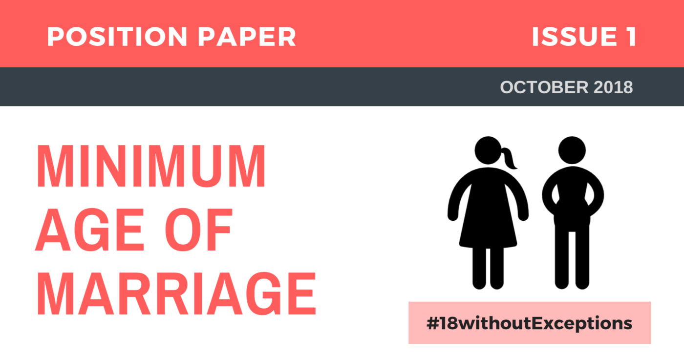 minimum age for marriage